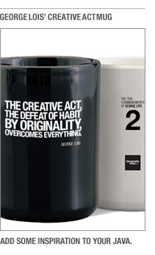 George Lois Creative Act coffee mug