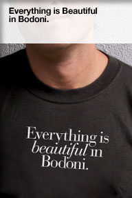 Everything is beautiful in Bodoni