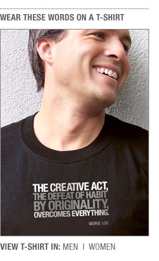 George Lois' Creative Act t-shirt from TypographyShop