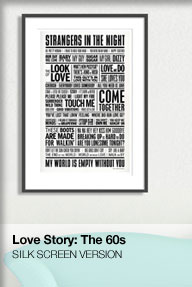 70s silk screened love story poster