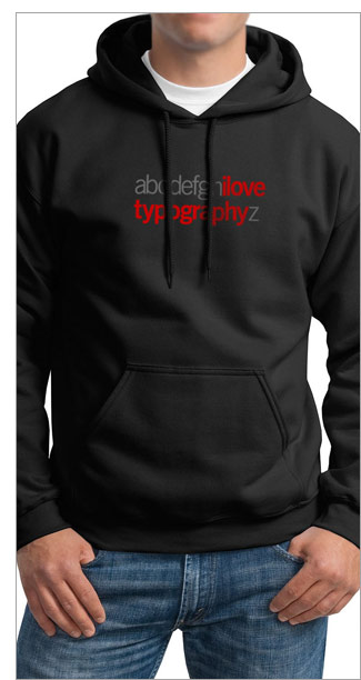 New: ilovetypography a-z hoodie