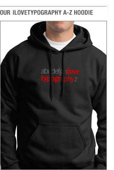 Our ilovetypography a-z hoodie
