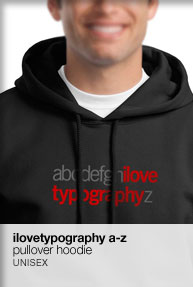ilovetypography a-z hoodie