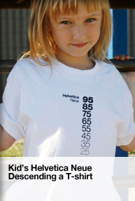 childrens helvetica t-shirt