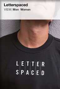 letterspaced t-shirt