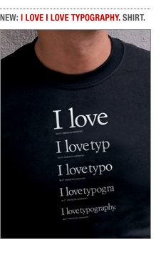 I love I love typography