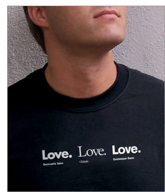 Love. Love. Love. t-shirt from TypographyShop