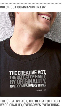 "You might also like ""The Creative Act."""